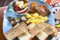 [美食] 台南 Bunny & Bear 早午餐、親子餐廳 2樓附親子遊樂區~ 適合帶小孩聚餐!