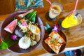 [美食] 沖繩 亞熱帶茶屋 花人逢旁~ 濃厚南洋風下午茶!居高眺望超美夕陽海景!