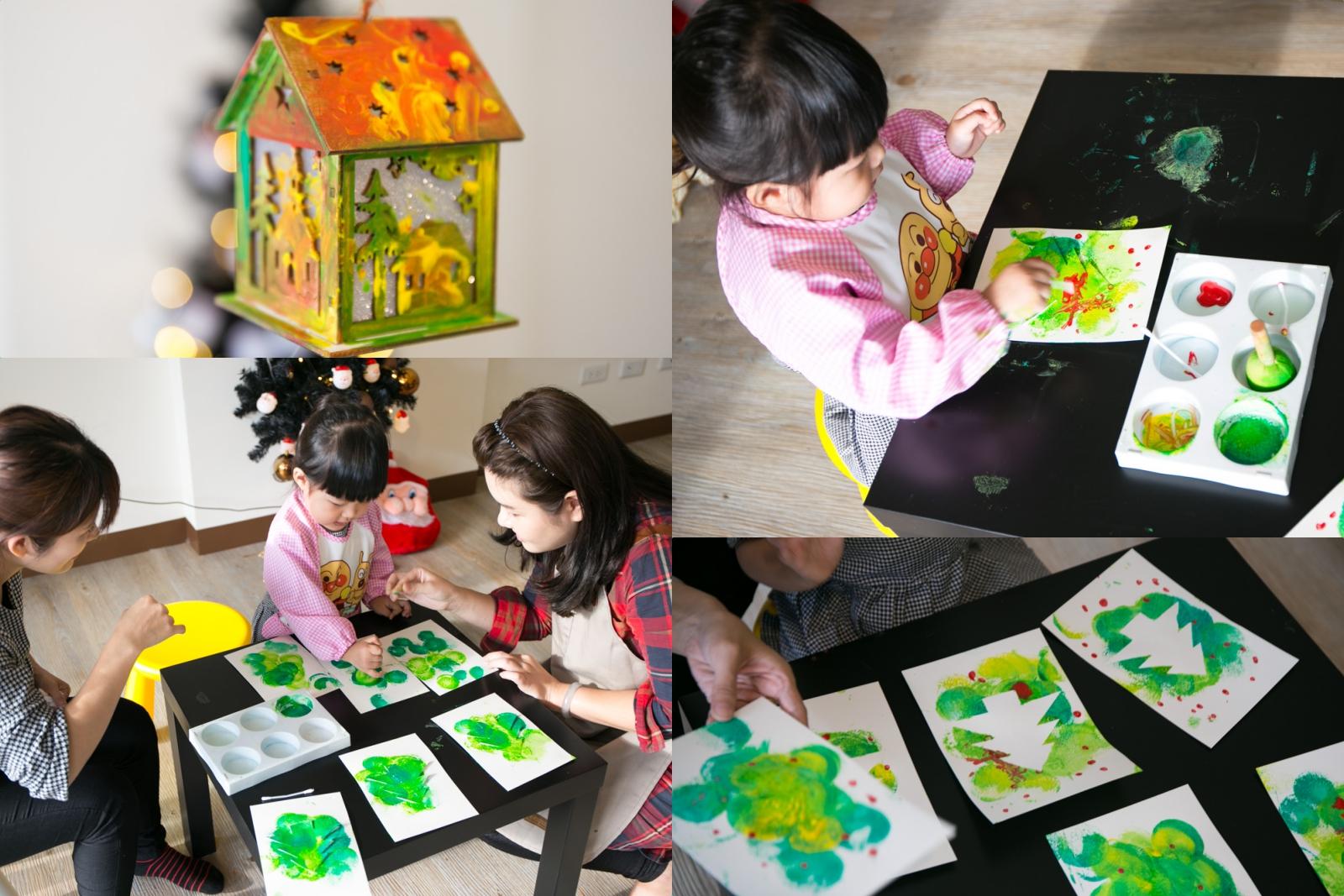 【分享】 台南 歸仁 一起來玩 Studio畫室 耶誕卡片夜燈製作!兒童美語繪畫才藝班!