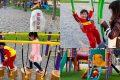 [景點] 台南 北區 凱德公園 隱身在住宅區的特色公園!親子盪鞦韆好好玩!新整修、新遊具、礫石鋪面!